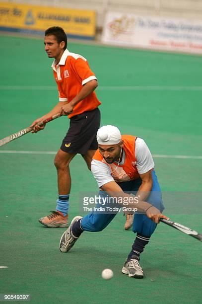 Sandeep Singh Indian hockey player in action at the Shivaji stadium during 42nd STC Nehru hockey tournament New Delhi