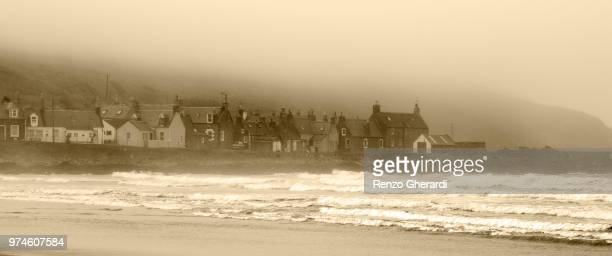 sandend in the mist - renzo gherardi stock photos and pictures