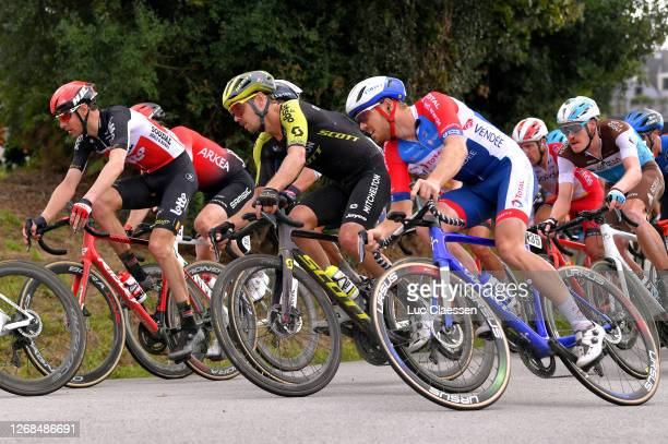 Sander Armee of Belgium and Team Lotto Soudal / Dion Smith of New Zealand and Team Mitchelton - Scott / Pim Ligthart of Netherlands and Team Total...