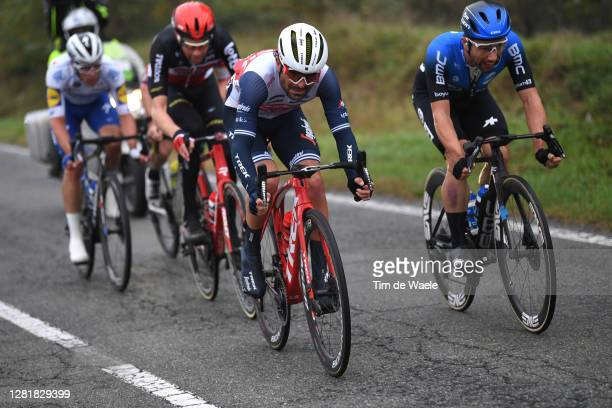 Sander Armee of Belgium and Team Lotto Soudal / Jacopo Mosca of Italy and Team Trek - Segafredo / Victor Campenaerts of Belgium and NTT Pro Cycling...