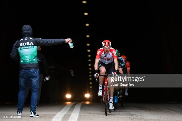 Sander Armee of Belgium and Team Lotto Soudal / Soigneur Team BoraHansgrohe / Tunnel / during the 28th Mallorca Challenge 2019 Trofeo Lloseta a...