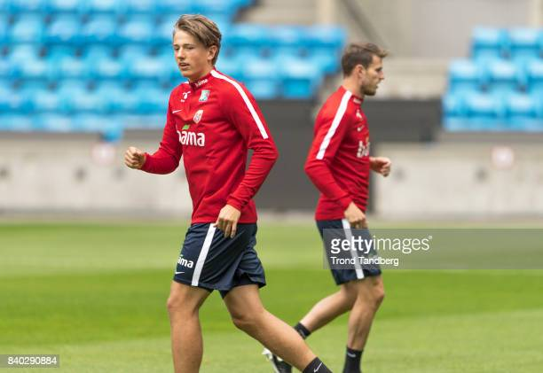 Sander Berge Haavard Nordtveit of Norway during the FIFA 2018 World Cup Qualifier training between Norway and Azerbaijan at Ullevaal Stadion on...