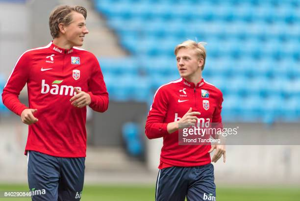Sander Berge Mats Moller Daehli of Norway during the FIFA 2018 World Cup Qualifier training between Norway and Azerbaijan at Ullevaal Stadion on...