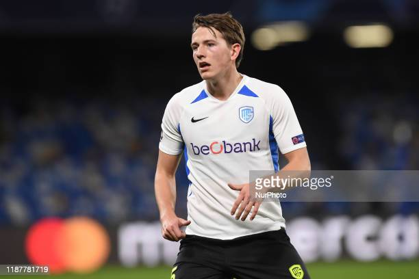 Sander Berge of KRC Genk during the UEFA Champions League match between SSC Napoli and KRC Genk at Stadio San Paolo Naples Italy on 10 December 2019