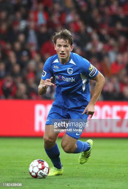 Sander Berge of Krc Genk in action during the Jupiler Pro League match between Standard Liege and KRC Genk at Stade Maurice Dufrasne on October 19...