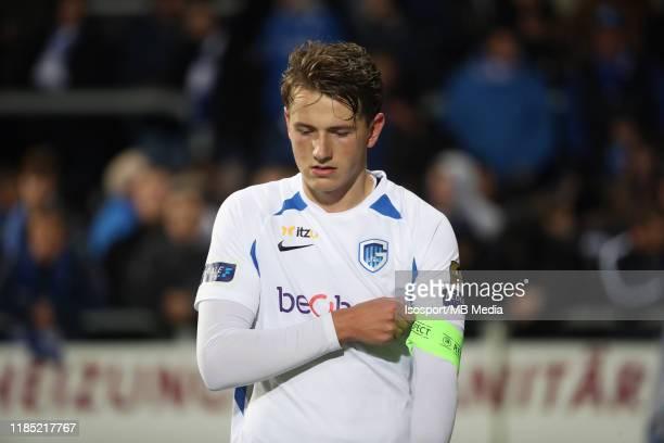 Sander Berge of Krc Genk looks dejected during the Jupiler Pro League match between AS Eupen and KRC Genk at Kehrwegstadion on November 2 2019 in...