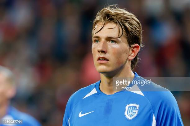 Sander Berge of KRC Genk looks on during the UEFA Champions League group E match between RB Salzburg and KRC Genk at Red Bull Arena on September 17...