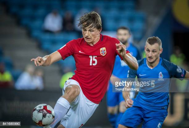 Sander Berge of Norway during the FIFA 2018 World Cup Qualifier between Norway and Azerbaijan at Ullevaal Stadion on September 1 2017 in Oslo