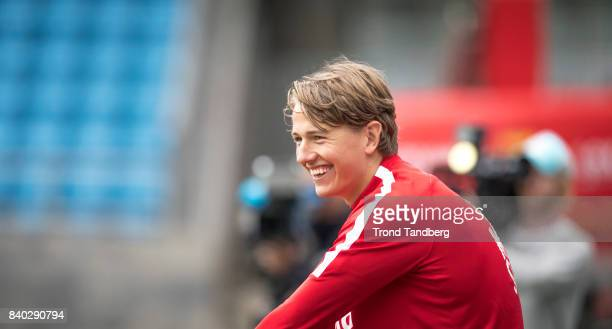 Sander Berge of Norway during the FIFA 2018 World Cup Qualifier training between Norway and Azerbaijan at Ullevaal Stadion on August 28 2017 in Oslo...