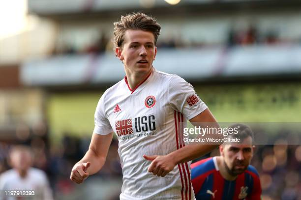 Sander Berge of Sheffield United during the Premier League match between Crystal Palace and Sheffield United at Selhurst Park on February 1 2020 in...