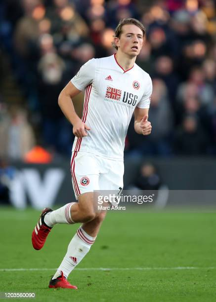 Sander Berge of Sheffield United during the Premier League match between Crystal Palace and Sheffield United at Selhurst Park on February 01 2020 in...
