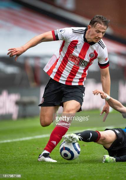 Sander Berge of Sheffield United in action during the Premier League match between Sheffield United and Crystal Palace at Bramall Lane on May 8, 2021...