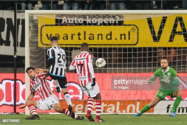 Sander Fischer of Sparta Rotterdam Reuven Niemeijer of Heracles Almelo Deroy Duarte of Sparta Rotterdam goalkeeper Roy Kortsmit of Sparta Rotterdam...