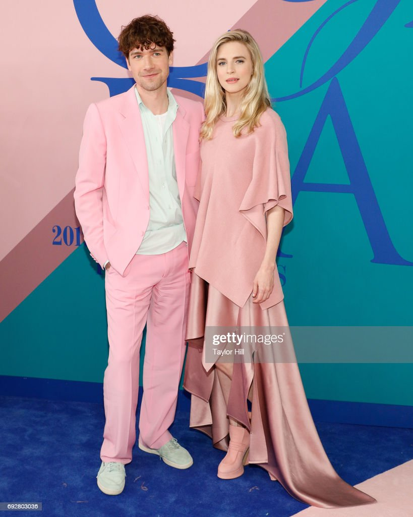 Sander Lak and Brit Marling the 2017 CFDA Fashion Awards at Hammerstein Ballroom on June 5, 2017 in New York City.