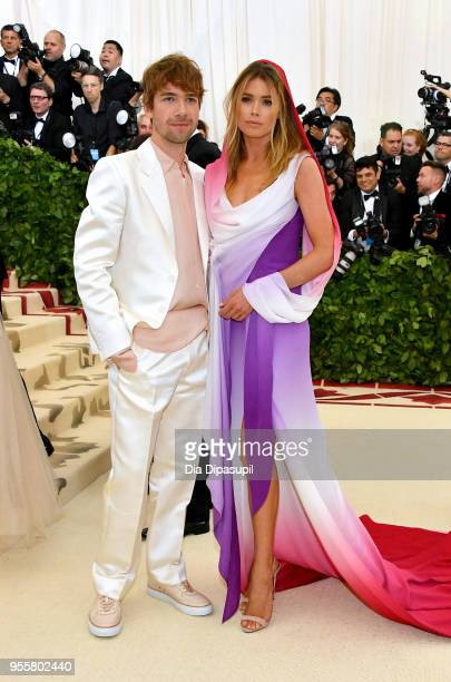 Sander Lak and Doutzen Kroes attends the Heavenly Bodies: Fashion & The Catholic Imagination Costume Institute Gala at The Metropolitan Museum of Art...