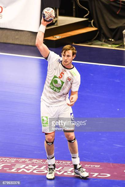 Sander Sagosen of Norway during the EHF Euro 2018 Qualifiers match between France and Norway on May 6 2017 in ClermontFerrand France