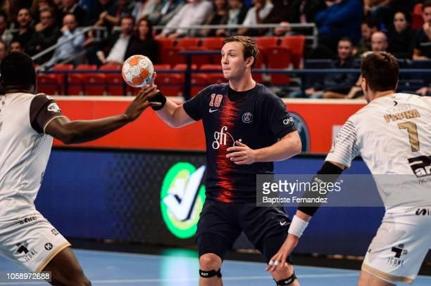 Sander Sagosen of Paris Saint Germain during the Lidl Starligue match between Paris Saint Germain and Pays d'Aix Universite Club at Stade Pierre de...
