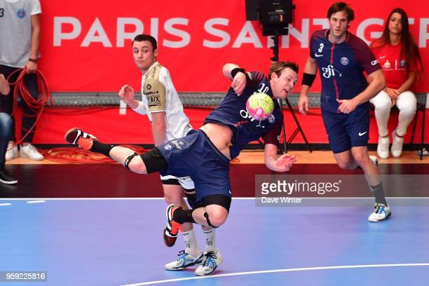 Sander Sagosen of PSG during the Lidl StarLigue match between Paris Saint Germain and Aix at Salle Pierre Coubertin on May 16 2018 in Paris France