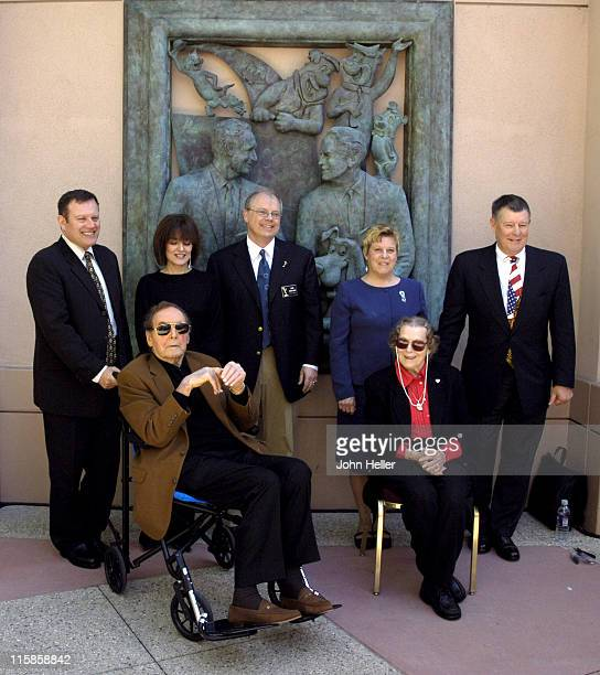 Sander Schwartz, president of Warner Bros. Animation, Jayne Barbera, Joseph Barbera, John Shaffner, co-chair of the Television Academy of Arts and...