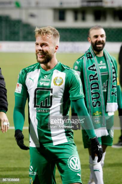 Sander Svendsen and Kennedy Bakircioglu of Hammarby IF celebrates after the victory during the Allsvenskan match between GIF Sundsvall and Hammarby...