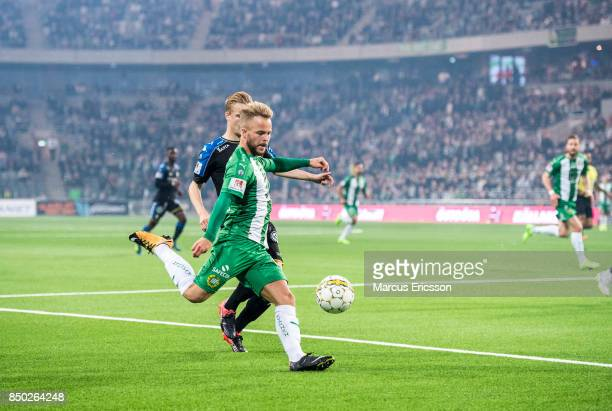Sander Svendsen of Hammarby IF during the Allsvenskan match between Hammarby IF and IFK Goteborg at Tele2 Arena on September 20 2017 in Stockholm...