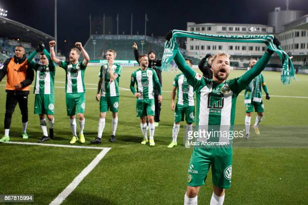 Sander Svendsen of Hammarby IF during the Allsvenskan match between GIF Sundsvall and Hammarby IF at Norrporten Arena on October 29 2017 in Sundsvall...