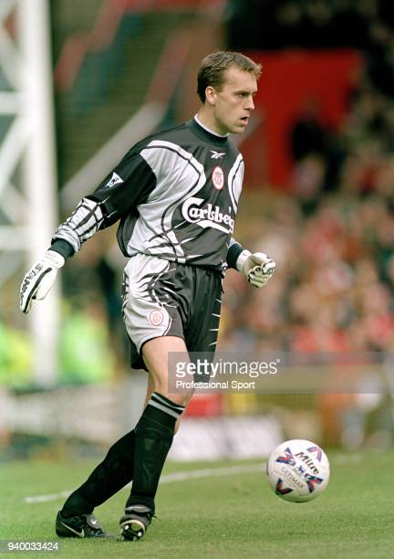Sander Westerveld of Liverpool in action during the FA Carling Premiership match between Wimbledon and Liverpool at Selhurst Park on April 16 2000 in...