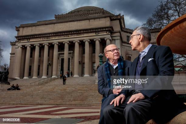 Sandford Greenberg and Art Garfunkel seen at their Alma Mater Columbia University Greenberg lost his sight in his first few months at Columbia as a...
