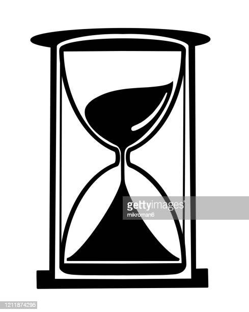 sand-glass hourglass timer icon - instrument of time stock pictures, royalty-free photos & images