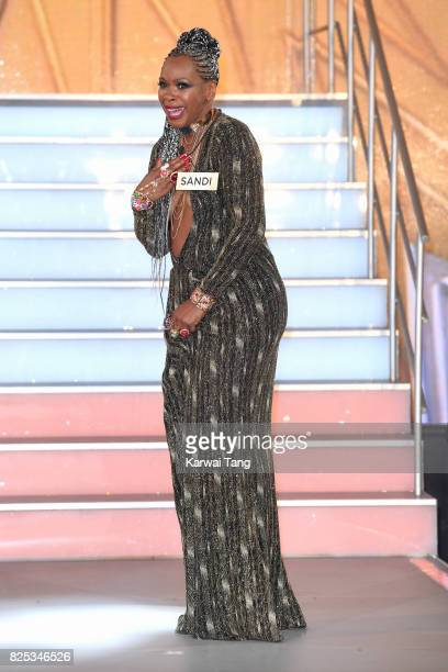 Sandi Bogle enters the Big Brother House for the Celebrity Big Brother launch at Elstree Studios on August 1 2017 in Borehamwood England