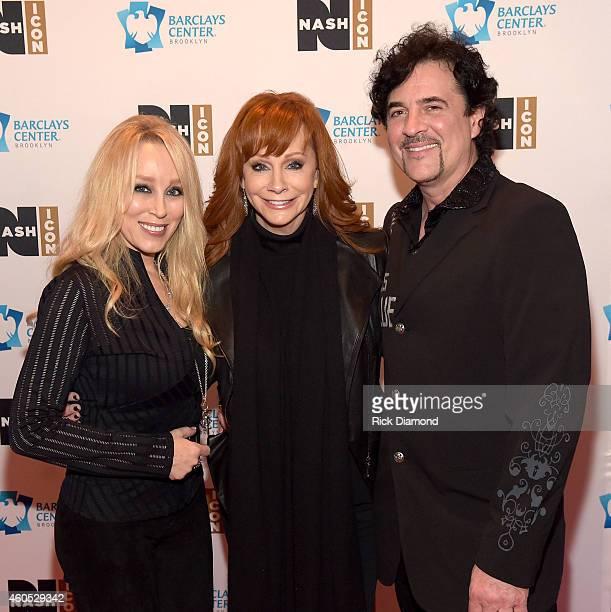 Sandi Borchetta Reba McEntire and Scott Borchetta attend the Inaugural Nash Icon ACC Awards postshow party honoring Reba as the first recipient of...
