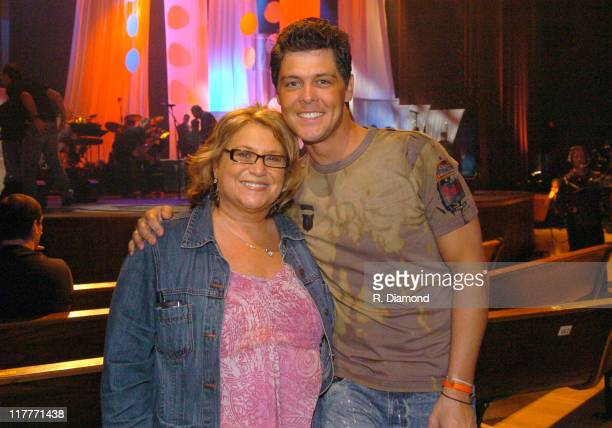 Sandi Patty and Jason Crabb during 36th Annual GMA Music Awards Rehearsals at Grand Ole Opry House in Nashville Tennessee United States