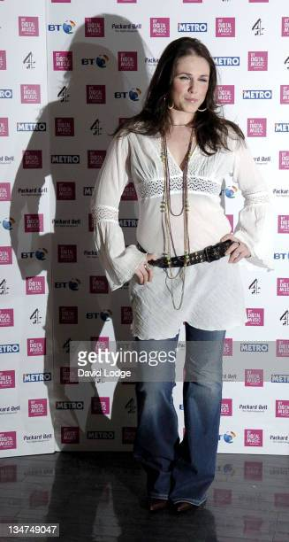 Sandi Thom during 2006 BT Digital Music Awards Launch at BT Tower in London Great Britain