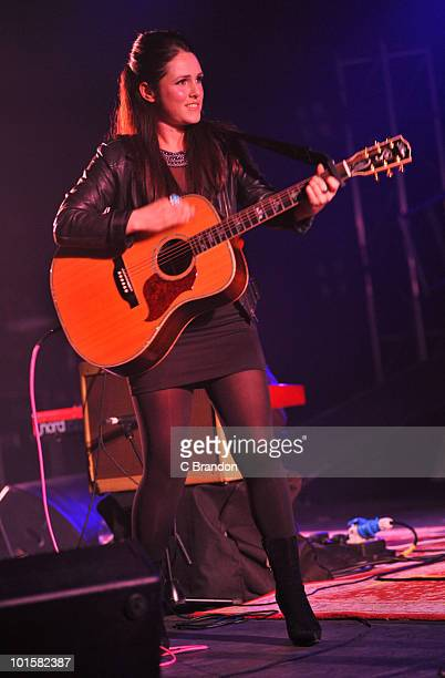 Sandi Thom performs on stage at Hammersmith Apollo on May 28 2010 in London England