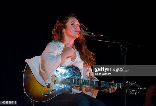 Sandi Thom performs on stage at Oran Mor on November 11 2014 in Glasgow United Kingdom