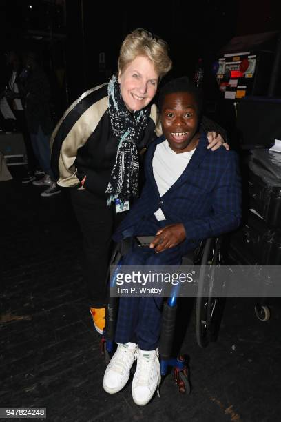 Sandi Toksvig and Ade Adepitan backstage as thousands of Global Citizens unite with leading UK artists industry leaders and nonprofit organizations...