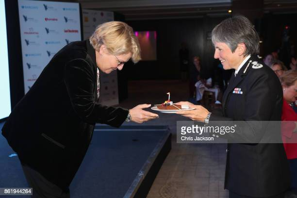 Sandi Toksvig and Commissioner of the Metropolitan Police in London Cressida Dick attend the annual Women of the Year lunch at Intercontinental Hotel...