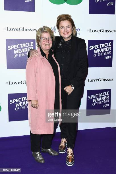 Sandi Toksvig and Debbie Toksvig attend the Specsavers 'Spectacle Wearer Of The Year' at 8 Northumberland Avenue on October 24 2018 in London United...