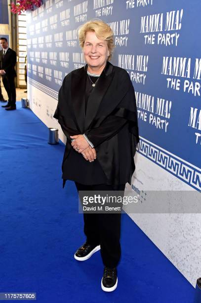 Sandi Toksvig attends the opening night of MAMMA MIA The Party at Building 6 at The O2 on September 19 2019 in London England