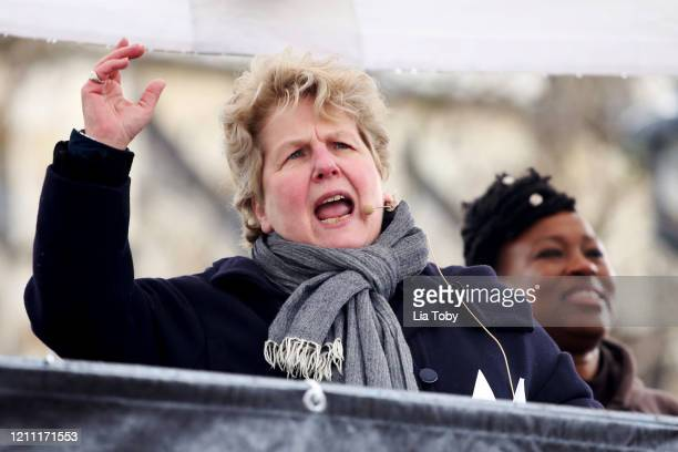 Sandi Toksvig during the #March4Women 2020 on March 08 2020 in London England The event is to mark International Women's Day