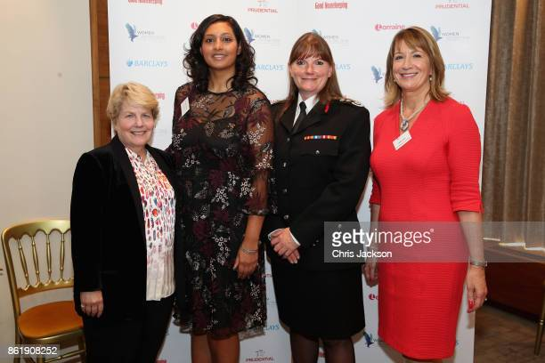 Sandi Toksvig Melissa Grant Camilla Duchess of Cornwall commissioner Dany Cotton and Jane Luca attend the annual Women of the Year lunch at...