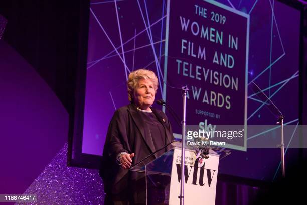 Sandi Toksvig presents the Women in Film and TV Awards 2019 at Hilton Park Lane on December 06 2019 in London England