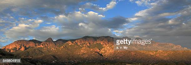 sandia crest late afternoon - sandia mountains stock pictures, royalty-free photos & images