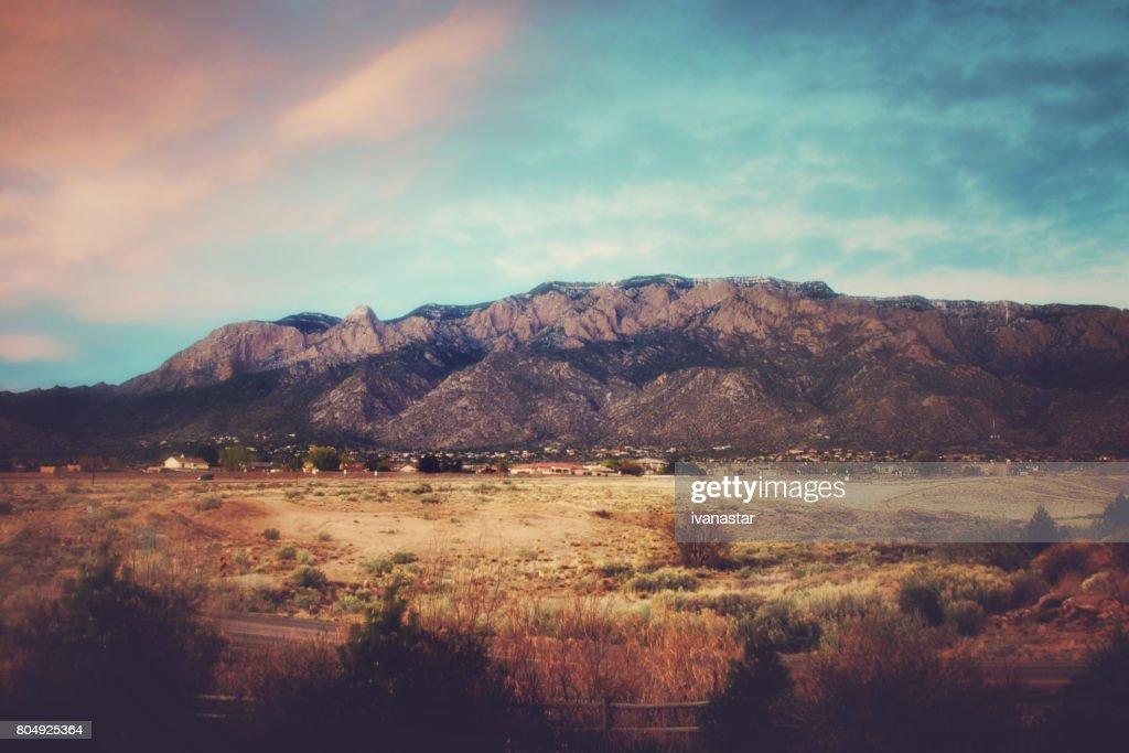 Sandia Mountains at Sunset : Stock Photo