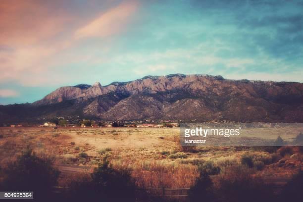 Montañas de Sandia al atardecer