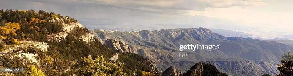 Sandia Mountains Panorama : Stock Photo