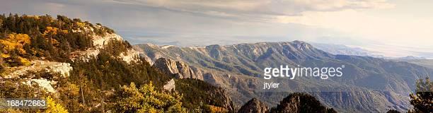 sandia mountains panorama - sandia mountains stock pictures, royalty-free photos & images