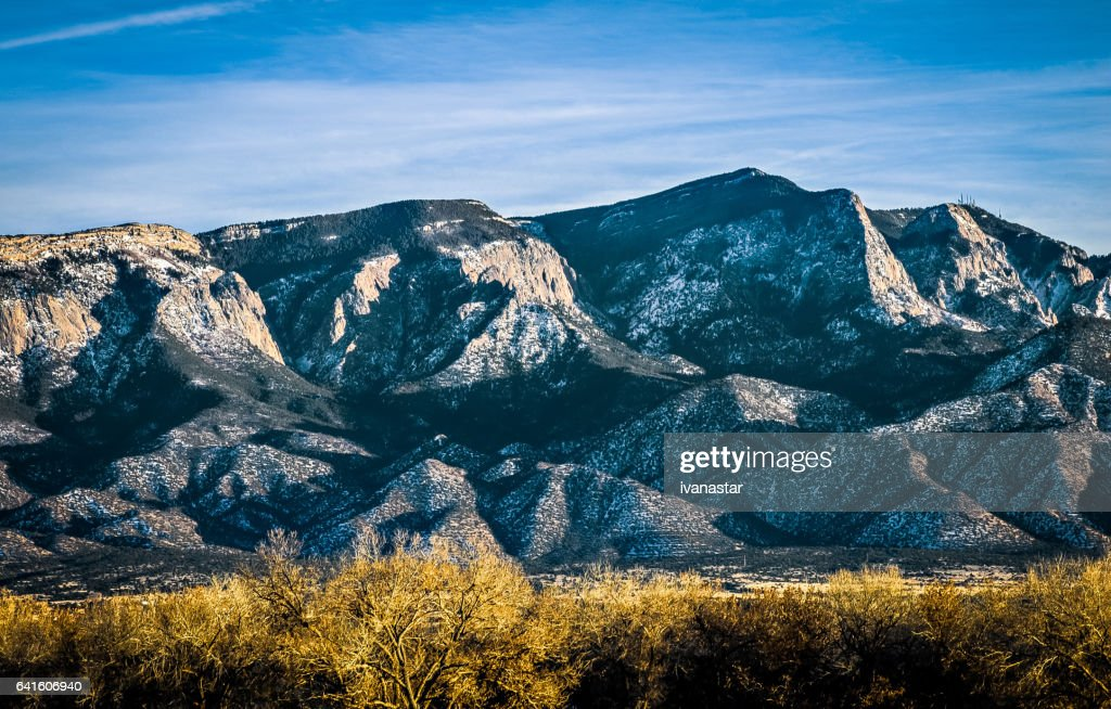 Montanhas Sandia : Foto de stock