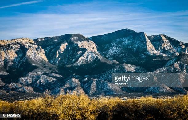 sandia mountains - sandia mountains stock photos and pictures