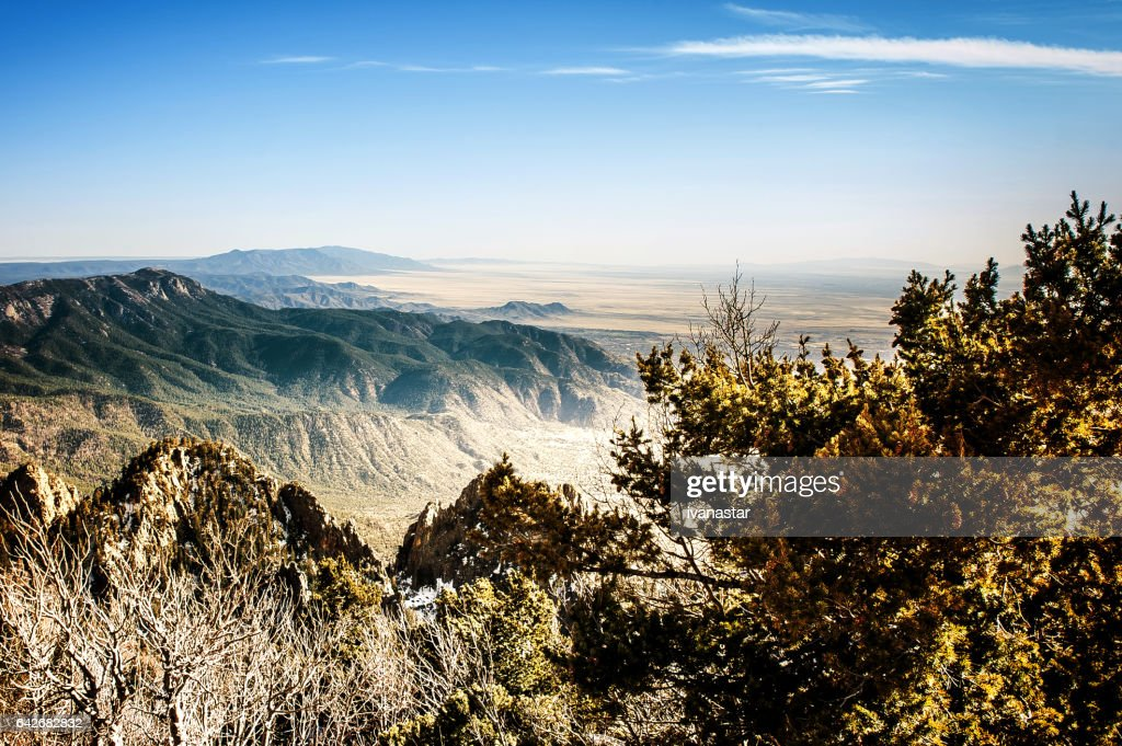 Sandia Mountains - View from the Sandia Crest : Stock Photo